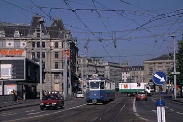 die Tram in der Innenstadt von Zürich