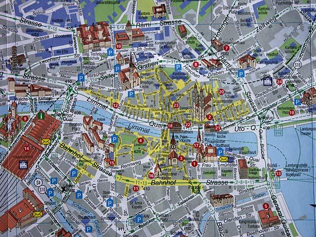 Stadtplan Zürich